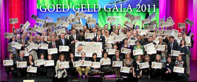 2.5 million people in the Netherlands together raised 270 millions Euros for charity organizations
