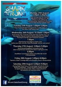 Saba shark week poster