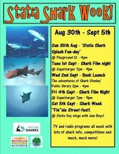 Statia shark week poster